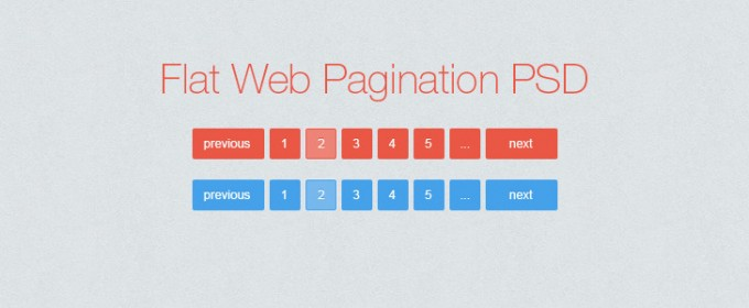 Flat website pagination PSD