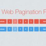 Flat website pagination PSD